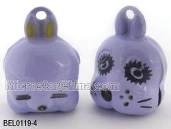 Size:15*20mm fashion Double Face Brass Bell Dog & Rabbit