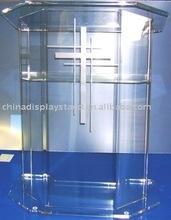 Podio della chiesa del plexiglass con la traversa