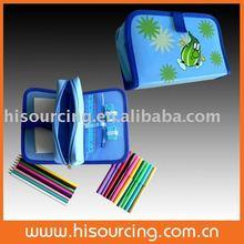 colouring set in triple pencil case