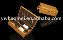 PU/PVC wine case , leather red wine box , gift wine case