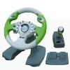 dual format 10 inches video game steering wheel for XBOX360
