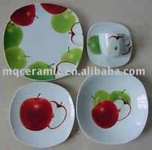 20 pcs ceramic square dinnerware