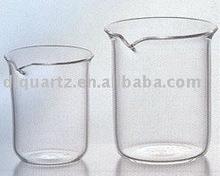 clear laboratory quartz beaker
