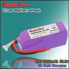 Rc lipo battery 5000mAh 22.2V 40C 6S1P Hobby rc train