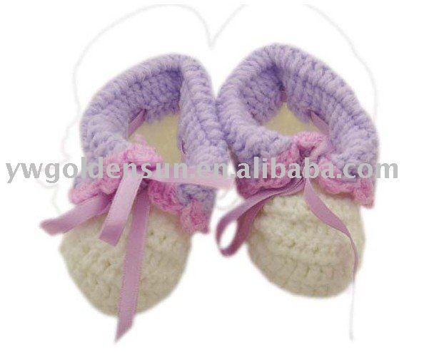 De punto y ganchillo bebé botines zapatos (4234)