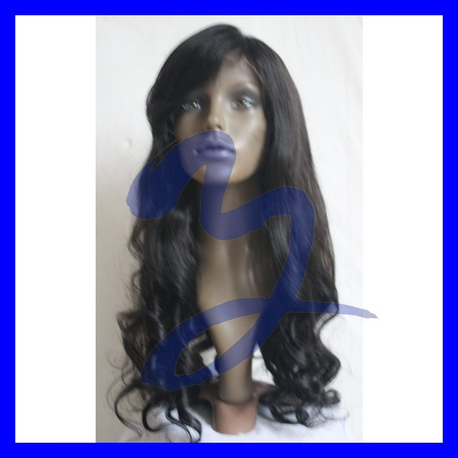 french curl 24inch color 1b human hair wig