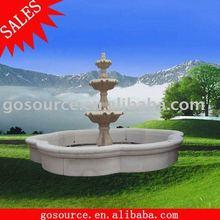granite swimming pool fountain