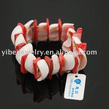 handmade dyed shell bracelets /shell jewelry