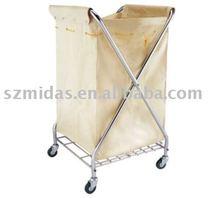 Folding X-shaped linen trolley
