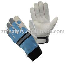 Pig/Goatskin Leather Mechanic Gloves ZM325-L