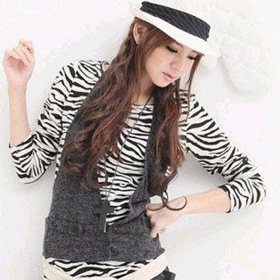فساتين Zebra Two_piece_Zebra_Stripes_Vests_Designed_T