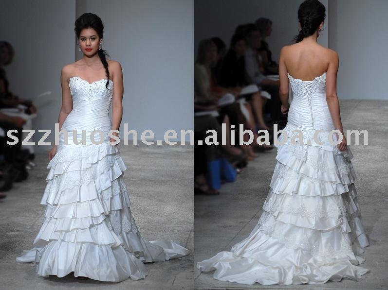 white lace wedding dress 2011 JK1702