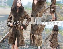 fashionable rabbit fur garment fur coats fur clothing winter coat F004wxx
