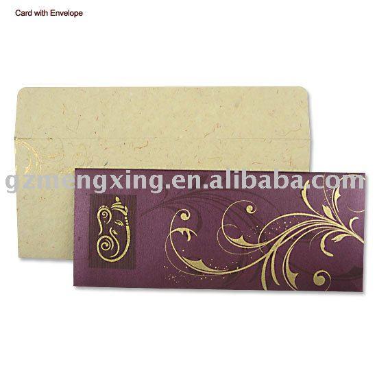 See larger image Hindu wedding invitations PA071