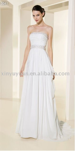 2011 new designer vintage beading beach destination wedding dresses ADW043