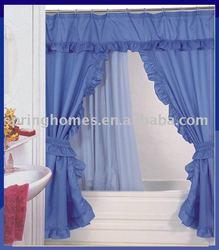 Diamond double swag shower curtain