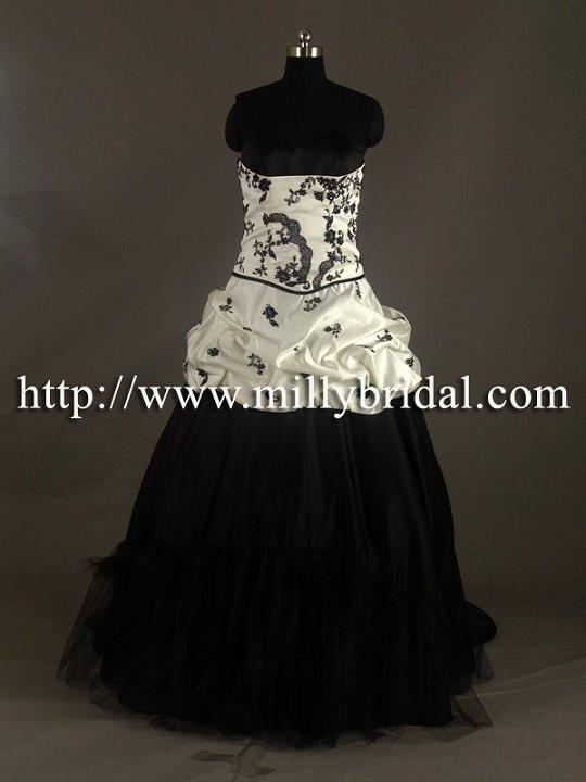 Black and White Wedding DressesWG1016