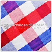 100% Cotton Top Grade Yarn Dyed Check Shirt Fabric
