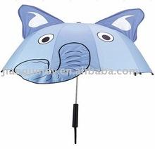 carton elephant children umbrella