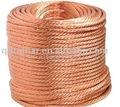 金色の銅線ロープ