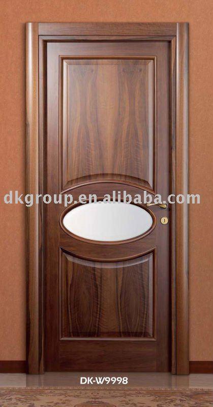 Nouveau mod le int rieur porte en bois dk w9008 portes - Modele porte en bois interieur ...