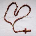 cuentas de madera rosario cuerda