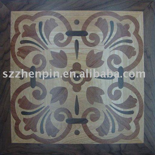 azulejo de piso de madera del roble de la nuez y de entarimado de mosaico del balsamo