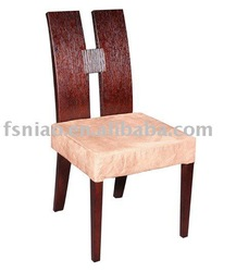 solid wood and fabric dining chair B848-G
