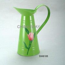 galvanized tin pitcher