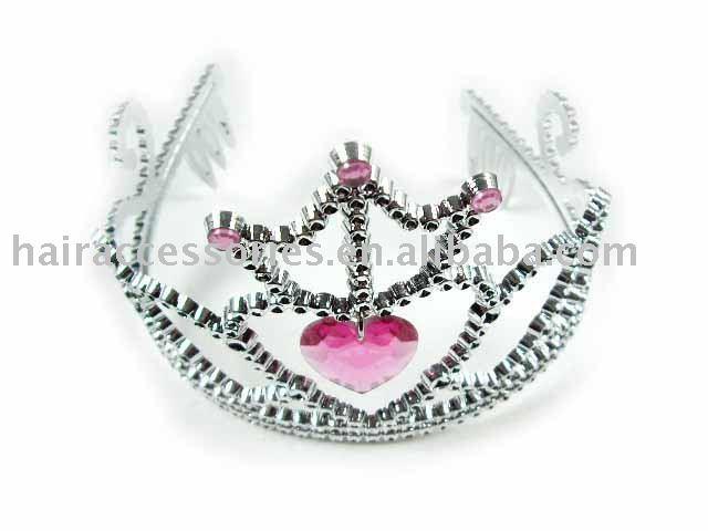 See larger image Pink Heart Wedding Crown