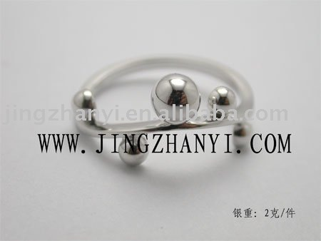 silver solid ball rings