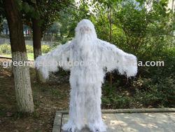 snow ghillie suit