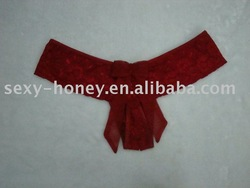 Red Nylon Panties