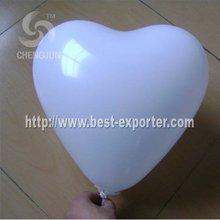 white color heart shape balloon