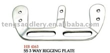 Saddlery SS 3 Way Rigging Plate