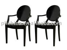 Modern Black Acrylic Ghost Armchair;Victoria Acrylic Ghost Chair;Louis Acrylic Ghost Chair