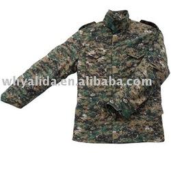 M65 camouflage army jacket digital woodland keeping warm with line