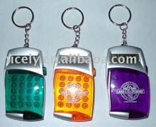 mini electronic calculator with key ring