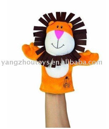 Leão fantoche de mão