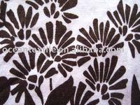 cotton poplin spandex with printed fabric