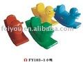 Mecedora niños plástico animal caballo