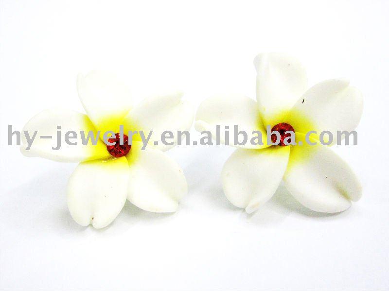 Hawaiian Heirloom Jewelry Sterling Silver Blue CZ Plumeria Flower