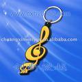 Anillo de pvc clave de la música con el patrón de notas pvc-kc545
