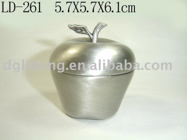Apple Jewelry Box Apple Metal Jewelry Box(ld
