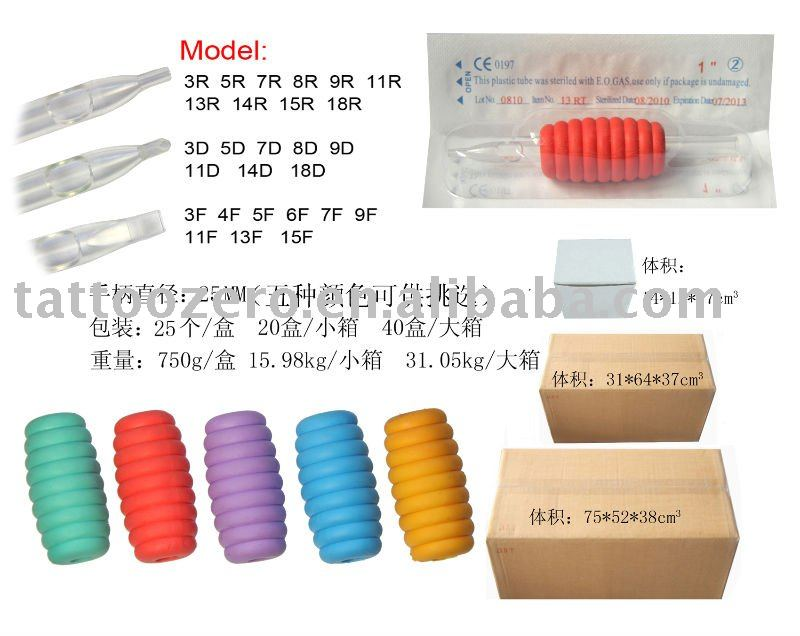 See larger image: tattoo Disposable plastic tube with tattoo needles