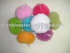 mesh bath puff, mesh sponge scrubber LB-A002