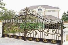 Custom Wrought Iron Gate, Driveway Art Gates