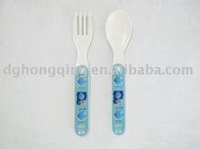 Mélamine cuillère et fourchette pour enfants