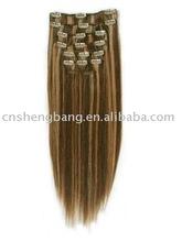 Top Grade! Virgin & Remy Clip on human hair extension