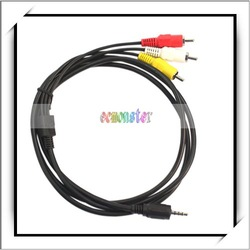 "0.14"" Jack to 3 RCA Audio Adapter Cable Video AV"